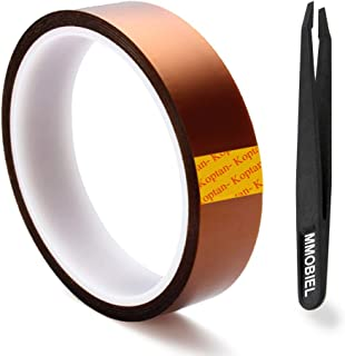 MMOBIEL 25mm ESD Heat Resistance Polyimide Tape Sticker Strong Adhesive 30 m Long Heat Resistantup to 280°C