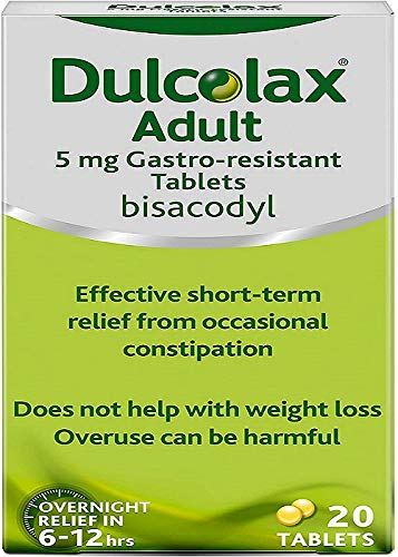 Dulcolax Bisacodyl Tablets 5mg, 20 Tablets