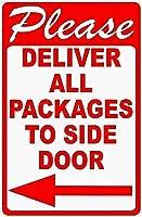 2個 すべてのパッケージをサイドドアに配送してくださいブリキの看板金属板装飾看板家の装飾プラーク看板地下鉄金属板8x12インチ メタルプレートブリキ 看板 2枚セットアンティークレトロ