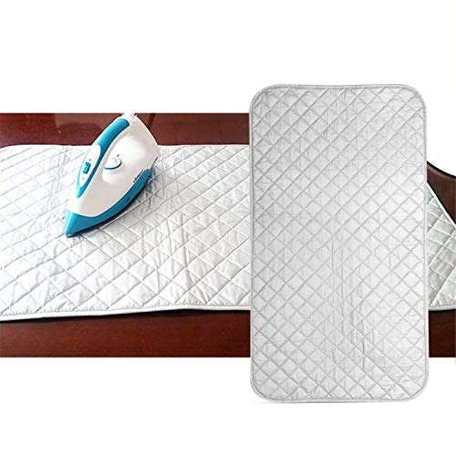 Yosoo Portable Ironing Blanket Ironing Mat Heat Resistant Pad Cover for Washer Dryer Table Top Countertop Ironing Board for Small Space