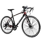DJYD Adult Rennrad, Junge Mädchen 14 Geschwindigkeit Leichte Aluminium-Rennrad, Doppelscheibenbremse Rennrad, 700C Räder, Red FDWFN (Color : Red)