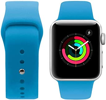 Porodo Silicone Watch Band for apple Watch 44mm / 42mm compatible with Series 4, Series 5- Blue
