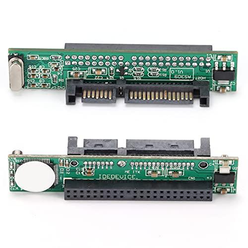 Adaptador IDE a SATA, 2.5 Pulgadas 44 Pines IDE HDD Disco Duro para computadora portátil Hembra a 7 + 15 Pines Convertidor SATA Macho, Convertir Disco Duro IDE para computadora portátil a Puerto SATA