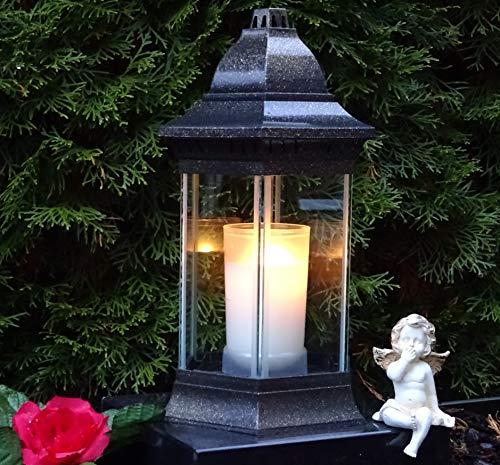 ♥ Grablaterne Grablampe Grablicht 30,0cm incl. Grabkerze Grabschmuck Grableuchte Laterne Kerze Licht Grabdekoration