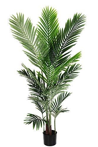 Arnusa Künstliche Palme 140 cm KP610 Kunstpflanze Kunstpalme Dekopflanze eingetopft Real-Touch