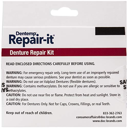 Dentemp Repair-it and Reline-it Denture Repair Kit, Multi-Pack