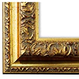Bilderrahmen Rom Gold 6,5 - WRU - DIN A0 (84,1 x 118,9 cm) - 500 Varianten - alle Größen - handgefertigt - Galerie-Qualität - Antik, Barock, Modern, Shabby, Landhaus - Fotorahmen Urkundenrahmen Posterrahmen