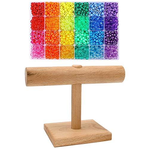ETDWA 2880 Cuentas de Agujero Grande Cuentas de plástico arcoíris 6 x...