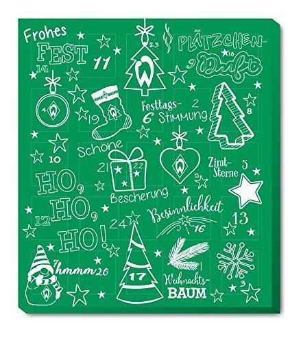 SV Werder Bremen - Adventskalender 2020 - Weihnachtskalender Premium mit Poster - 2020 - Kalender - Bundesliga - Fußball - (9,45 € /100 g)