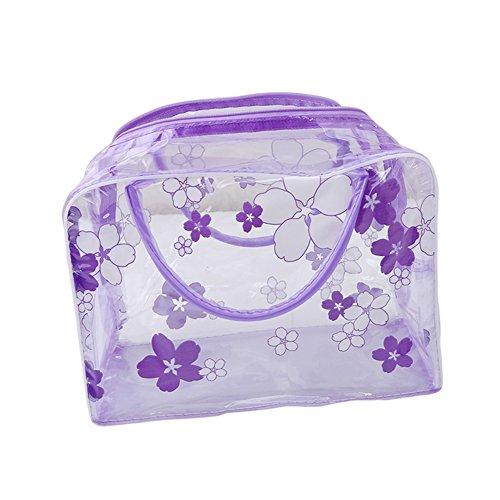 ODN PVC Transparent etanche multifonction sacs cosmetiques violet