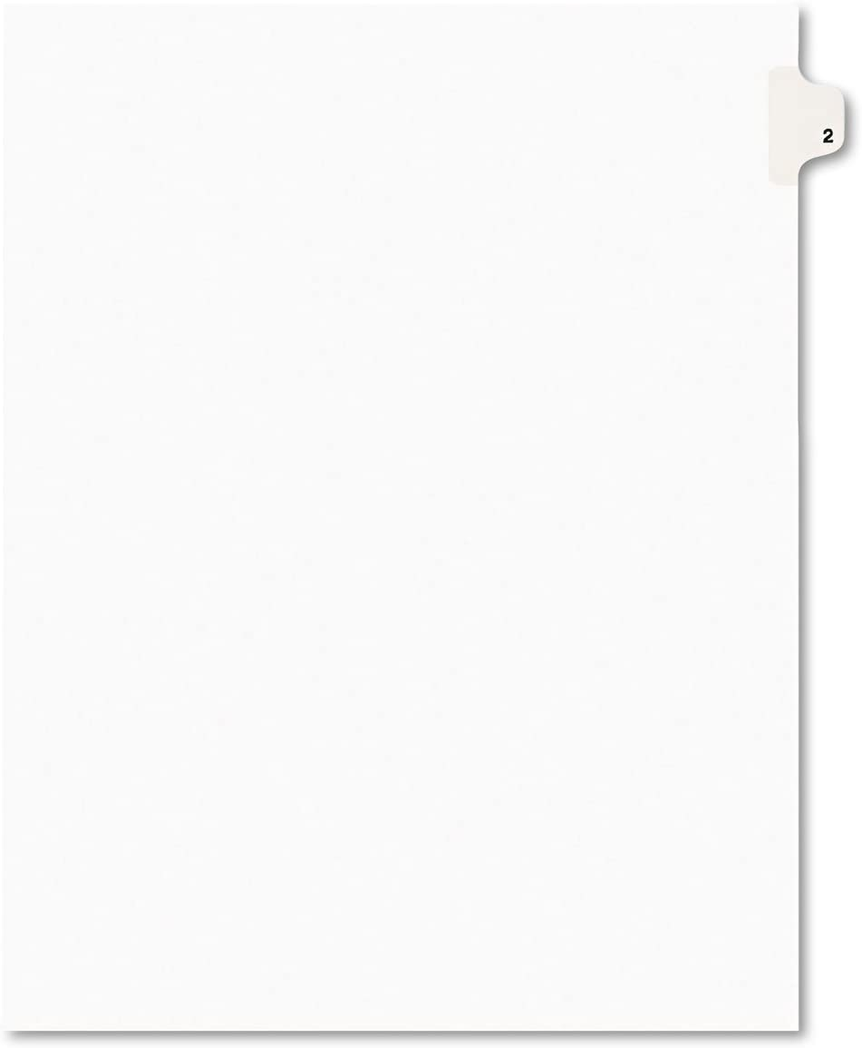 Avery Legal Minneapolis Mall Exhibit Tab Dividers Title: White 2 Letter shop