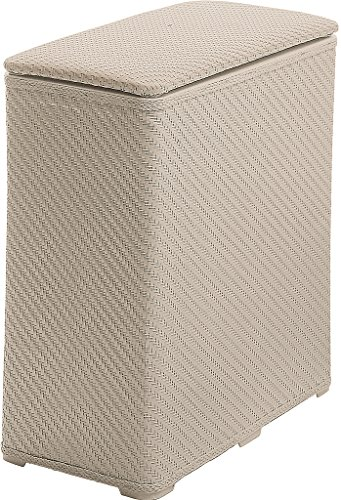 Gedy 20380300300 Ambrogio - Cesto para Ropa sucia y cajas, realizado en resinas termoplásticas, Beige, 28 x 50 x 55 cm
