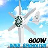 MEIGONGJU 6 Cuchillas de Viento 300W del generador de turbinas de Viento Solar y eólica generador híbridos Kit hogar 24V turbinas de Viento generador Kit