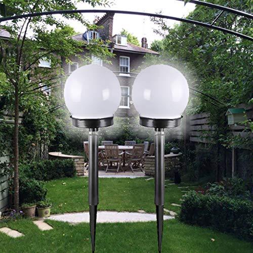 Sillor Solar Light for Garden,2xLED Solar Garden Path, Courtyard Lamp Lawn Road Courtyard Lighting White,2019 New (White, 2Pcs)