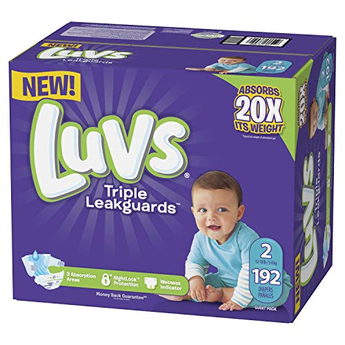 Luvs Triple Leakguards Diapers Size 2 192 Count