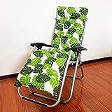 LINGXIYA Cojín de asiento reclinable duradero con correa antideslizante, cojín de 8 cm de grosor, cojín suave para tumbona, cojín para tumbona, tumbona, cojín para interior y jardín