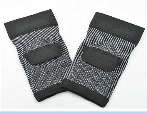 fabl Crew Spandex Chaussettes de sport noir grand CODE Protégez un Cheville Respirant Confortable musculaire soulager la douleur