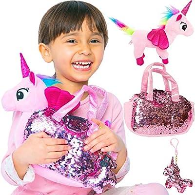 Little Jupiter Plush Pet Set - Unicorn Toys - Unicorn Stuffed Animal - Pink Elephant Stuffed Animal from Little Jupiter