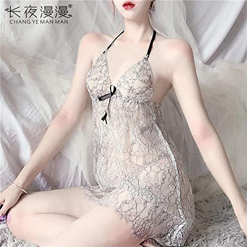 LNLJ Babydoll - Conjunto de pijama para mujer, con tirantes de encaje