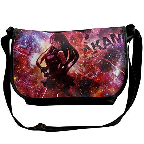Akame Ga KILL - Bolsa de mensajero para deportes y ocio, solo hombro, para viajes, adolescentes, ancho 11,8 largo x 10,2 cm alto x 6,3 ancho