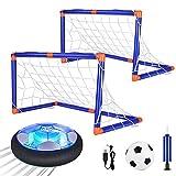 Anpro Air Power - Juego de fútbol con iluminación LED en interiores y exteriores para niños y niñas