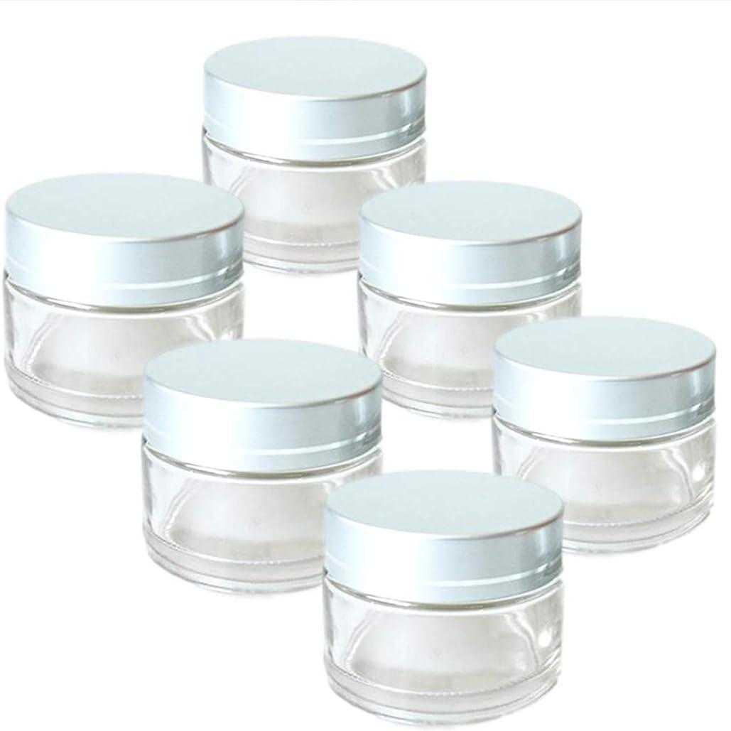 南東美人機構rer ハンドクリーム 詰替え 容器 薬 ワセリン 入れ 6個 セット (クリア)