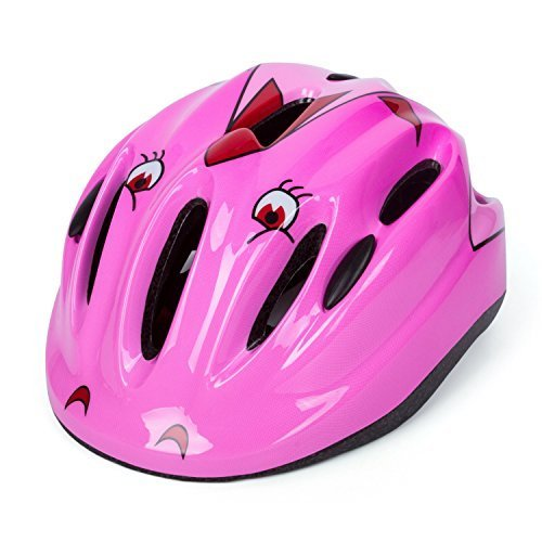 Babimax Enfant Casque de Vélo Securite Casque Vélo Helmet Casque Roller Enfant pour Sport Cycliste Cyclisme Bicyclette Casque Scooter Léger Garçon Fille 57 à 61 cm Multicolore pour 2 à 15 ans (Rose)