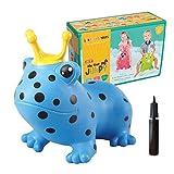 GERARDO`S Hüpftier Frosch Blau. Hüpftier für Kleinkinder ab 12 Monaten