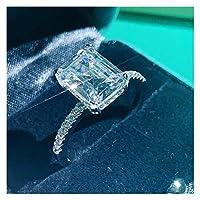 リング 40スタイルの完璧なリング925スターリングシルバーリングパーティーの結婚指輪ペアリング女性の婚約 結婚指輪 (Gem Color : Style 6, Ring Size : 10)