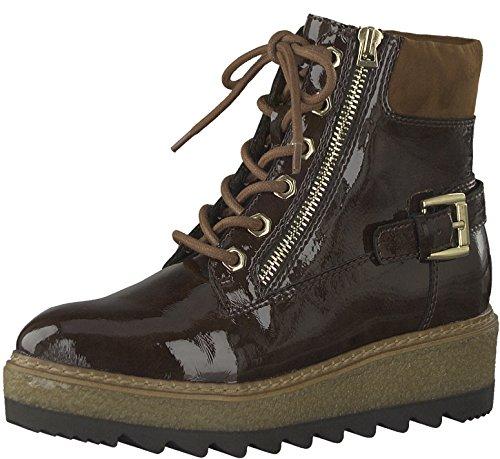 Tamaris Damenschuhe 1-1-25220-29 Damen Stiefel, Boots, Damen Stiefeletten, Herbstschuhe & Winterschuhe für modebewusste Frau braun (Maroon PAT.), EU 40