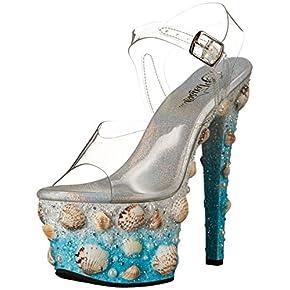 Pleaser Women's Sky308mermd/Cforwardslashlblg Platform Sandal