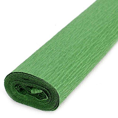 Namgiy - Rollo de papel crepé multicolor, 50 x 250 cm 50 * 250cm verde oscuro