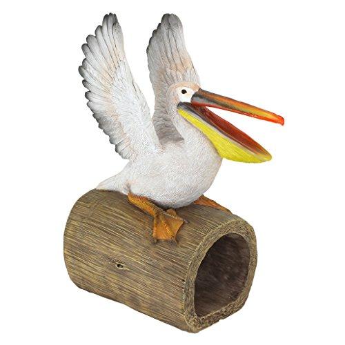 Design Toscano QM2868800 Splash The Pelican Gutter Guardian Downspout Statue, Full Color