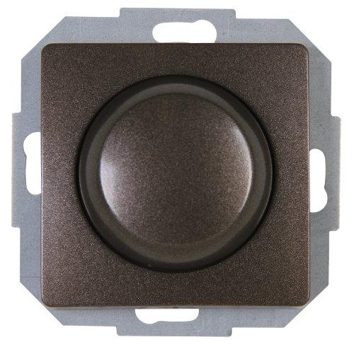 Kopp Wippen-Wechsel Dimmer stufenlos verstellbar, für Glühlampen und Halogenlampen, 40-400W/VA, UP, Dimmschalter