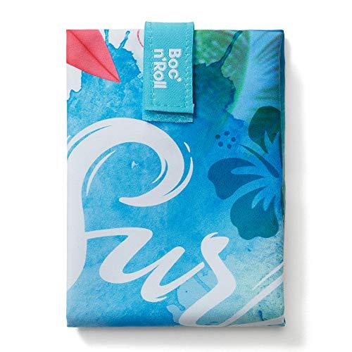 Roll'eat - Boc'n'Roll Young | Bolsa Merienda Porta Bocadillos, Envoltorio Reutilizable y Ecológico sin BPA, Surf