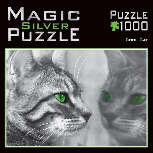 M.I.C. 390.5 - Magic Silver Puzzle - Coole Katze (Silbereffekt) - Puzzle 1000 Teile