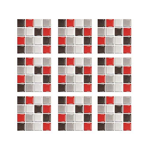 Adhesivo para Azulejos, Azulejos de Mosaico, Autoadhesiva Etiqueta Engomada Del Azulejo de La Pared, para Cocina Baño Pegatinas de Baldosas Stickers (30 Pcs,B/5)
