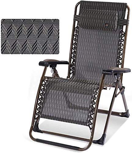 Sillón solal liviano reclinable Sillas de jardín plegables Conjunto de 2 tumbonas reclinadas plegables, sillón de cubierta de tumbonas ensanchadas, tumbonas plegables Sillón de sillón Oficina de desca