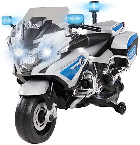 PEQUENENES Moto ELÉCTRICA para NIÑOS BMW R1200 POLICIA 12V