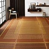 イケヒコ(IKEHIKO) い草 花ござ ランクス総色 ベージュ 江戸間2畳 約174×174cm 日本製 4108832