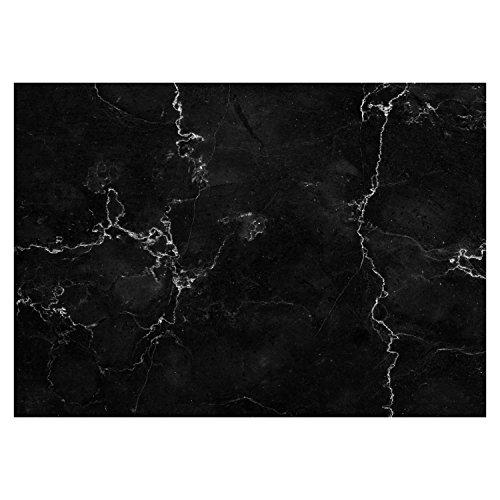 100 Papier-Tischsets mit Marmor-Optik schwarz I dv_334 I DIN A3 I Platzsets Platzdecken Tisch-Unterlage aus Papier modern Einweg Marble