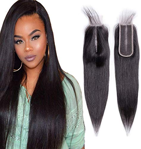 """BIPLE mèches Top Lace Closure 2"""" x 6"""" Bresilien Extensions de Cheveux Humains Naturels 14 inch"""