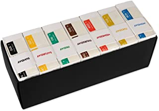 Day of The Week DayView Label Dispenser, with Monday-Sunday, 1 x 1 Inch Dissolvable Labels