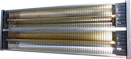 """Aktobis Heizstrahler, Terrassenstrahler, Balkonheizer WDH-240GT *Oberklassegerät* – komplett aus Edelstahl und mit zwei hocheffektiven """"goldenen Heizröhren"""" ausgestattet ! - 7"""