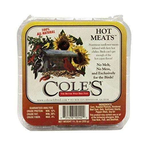 Coles Oiseaux Sauvages Products Hmsu 333,1 Gram Hot viandes de suif – quantité 12 par Coles Oiseaux Sauvages Products