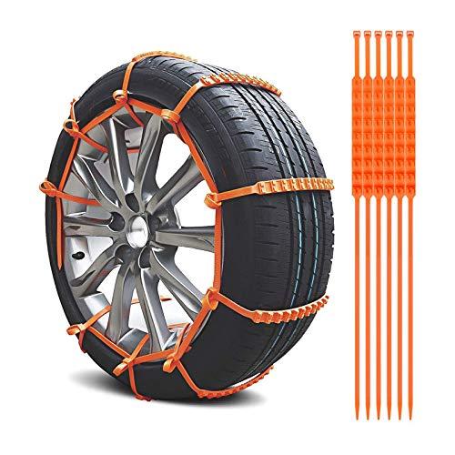 Gjosio Einkettige Kabelbinder Reifenketten Anti-Rutsch-Gurte (20PCS)