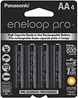 Panasonic BK-3HCCA4BA eneloop AA Batteries 4pk WLM