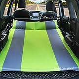 HKVML Colchón de Aire automático Cama para automóvil Colchón de Aire para Acampar Cojín para Dormir automático Cama Inflable Colchón de Viaje Inflable Colchón de Aire Elevado, Verde, 3 cm
