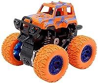 慣性回転車8.5cm * 9cm * 7cmTāyysキッズ摩擦力オフロード1ピース4WD車種慣性車Tıys子供誕生日プレゼント l (Color : ORANGE)