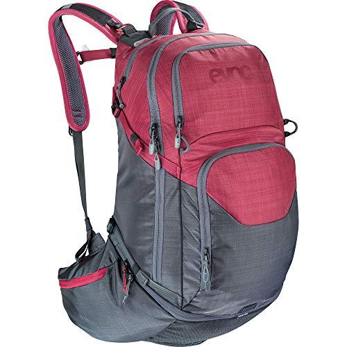 EVOC Unisex – Erwachsene Explorer Pro Performance Rucksack, Carbon Grau/Rubin Rot, 30l